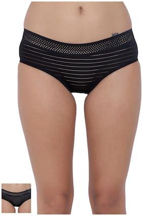BASIICS by La Intimo Women's PolyMonoSpandex Frio Hot Brief Panty