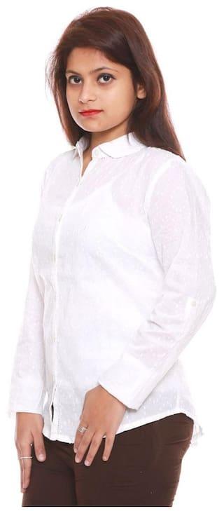 Shirt Cotton Fashion BD White Embroidery wqZ1SP