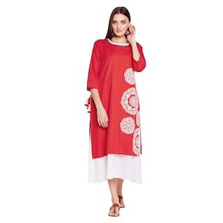 Be Indi Women Red Kurti