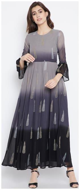 BE INDI Women Cotton Printed Straight Kurti - White