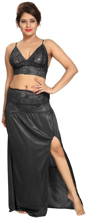 Be You Black Night Gown