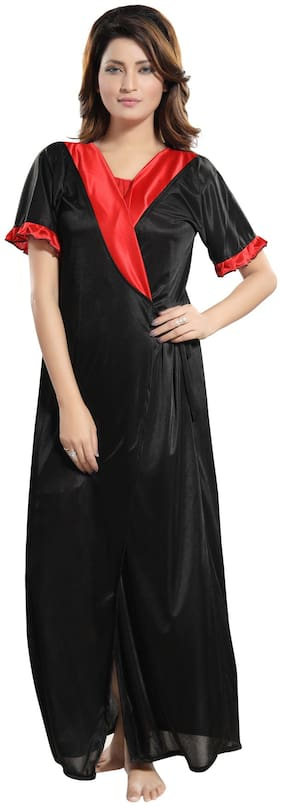 Be You Black Wrap Gown