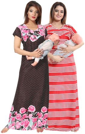 Be You Women Maternity Gown - Multicolor Free size