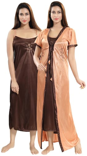 Be You Gold Nighty with Robe