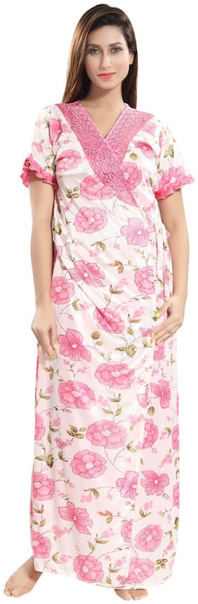 Be You Pink Wrap Gown