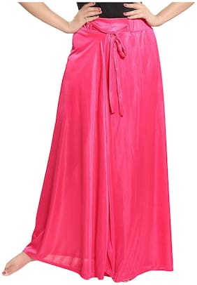 Be You Solid Flared skirt Maxi Skirt - Pink