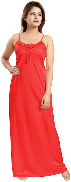 Be You Red Wrap Gown