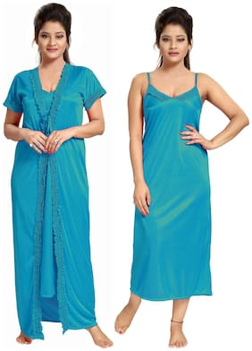 Be You Blue Nighty with Robe