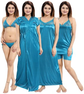Be You Turquoise Nighty with Robe