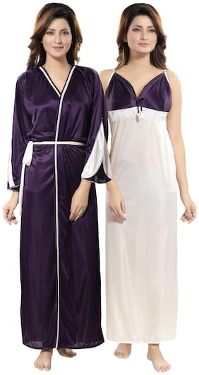Be You Purple Nighty with Robe