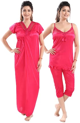 Be You Pink Nighty with Robe