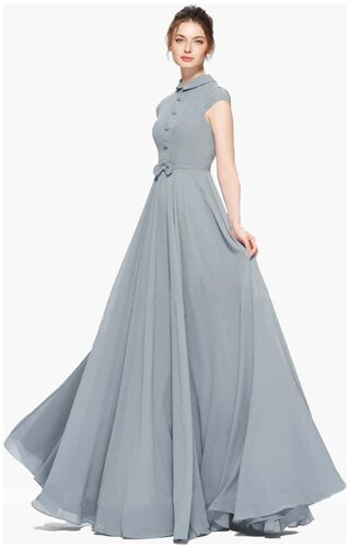 Beelee Typs Grey Georgette Gown