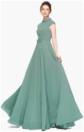 Women Solid Casual;Wedding;Festive Gown