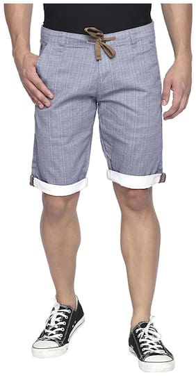Men Checked Regular Shorts Pack Of 1