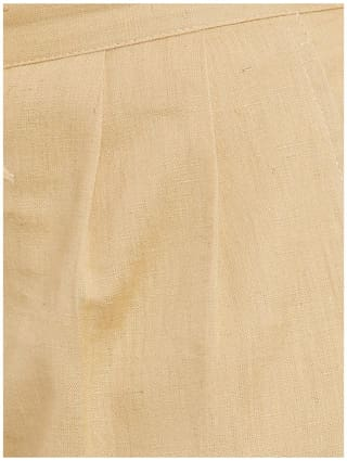 Beige Solid Cotton Solid Beige Trousers Solid Trousers Beige Cotton Cotton rqtgrwcUn