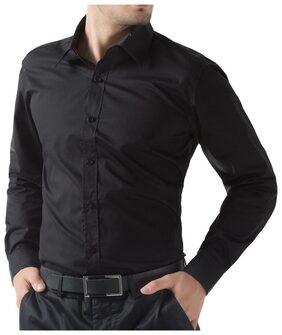 Being Fab Men Super Slim Fit Casual shirt - Black