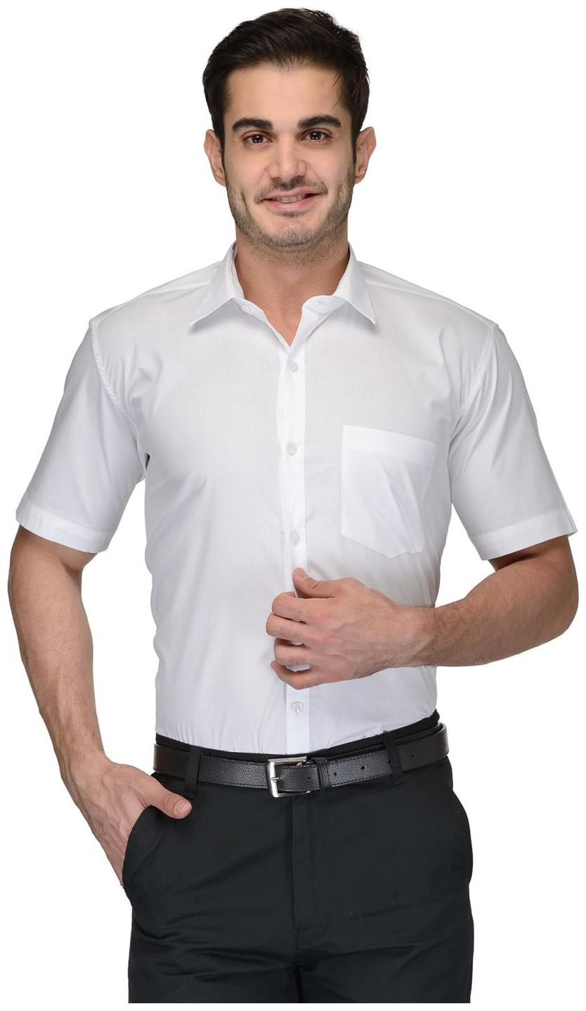 Being Fab Men White Solid Regular Fit Casual Shirt by Being Fab