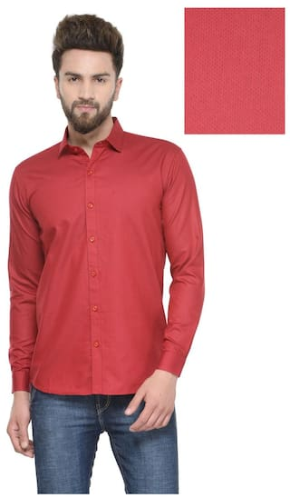 dc7fb94a614 Buy Being Fab Men s Polka Dot Casual Red Shirt Online at Low Prices ...