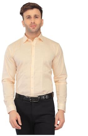 Being Fab Men Regular Fit Formal Shirt - Beige