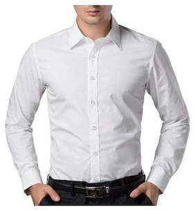 Men Super Slim Fit Solid Casual Shirt