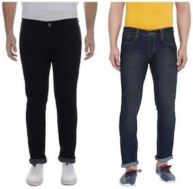 Ben Martin Men's Regular Fit Jeans  Pack Of 2 BLACK-BROWN 28