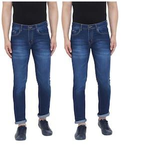 Ben Martin Men's Regular Fit Jeans  Pack Of 2 DARK BLUE-DARK BLUE 38