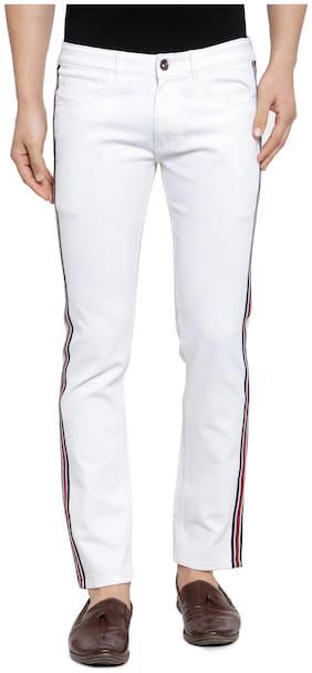 Ben Martin Men's Regular Fit Stripe Jeans WHITE 28