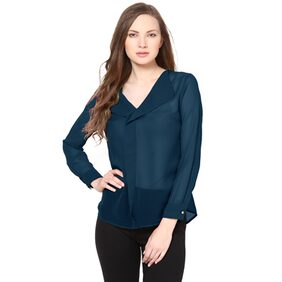 Besiva Blue Polyester Top