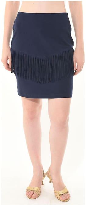 Besiva Blue Cotton Skirt