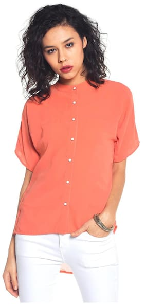Besiva Buttoned Polyester Top