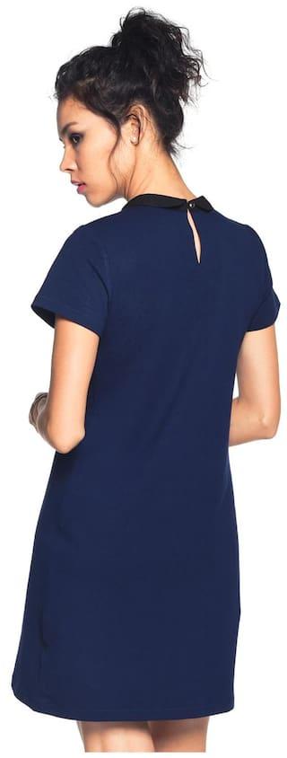 Cotton Besiva Collared Blend Spandex Dress UngXT