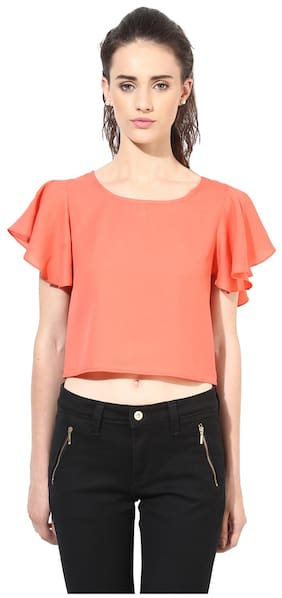 Besiva Pink Polyester Top