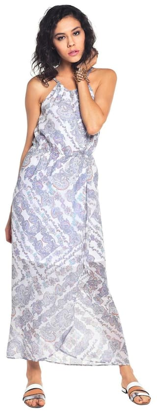 Maxi Besiva Printed Dress Polyester Blend zxPwqwCtF