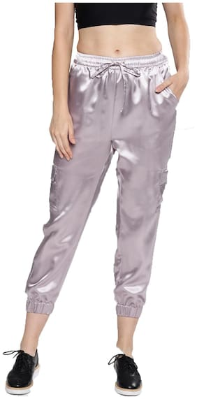 BESIVA Women Polyester Jogger Purple color