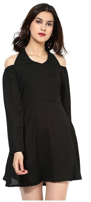 Besiva Women's Black Off-Shoulder Dress
