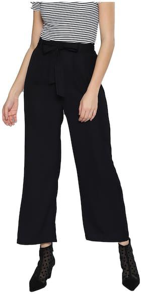BESIVA Women Black Regular fit Regular trousers