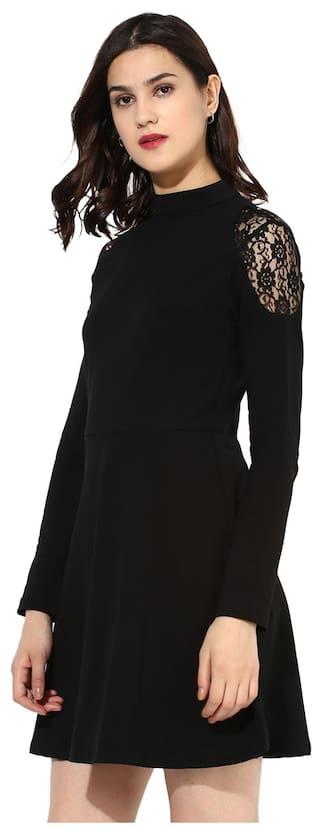 Women's Cotton Besiva Lace Dress Black v0dHHOwqx