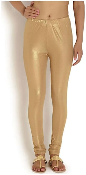 Best Deal Cotton & Shimmer Leggings - Gold