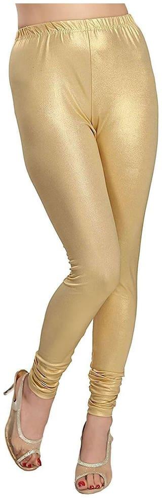 Best Deal Golden churidar Full length Leggings for Women's & Girl's