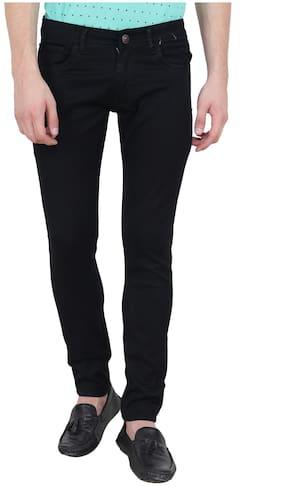 BESTLOO Men;s Black Round Pocket Jeans