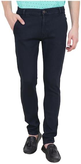 BESTLOO Men's Cross Pocket Black Jeans