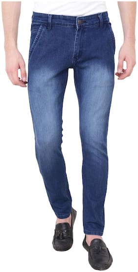 BESTLOO Men Mid rise Slim fit Jeans - Blue