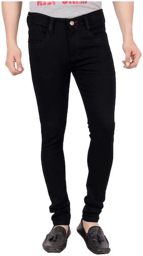 BESTLOO Men Mid rise Slim fit Jeans - Black