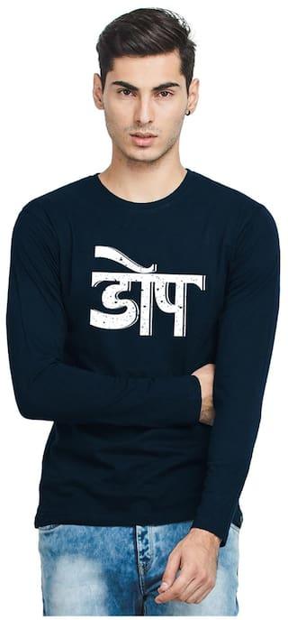 2527029478 Buy Bewakoof.com Men Regular Fit Round Neck T-Shirt - Blue Online at ...