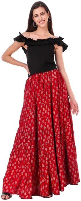 Bfly Flared Long Skirt for Women & Girls