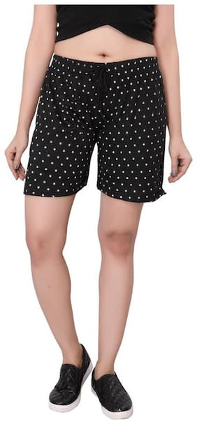 Bfly Women Polka dots Regular shorts - Black