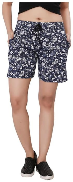 Bfly Women Printed Regular shorts - Grey