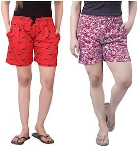 Bfly Women Printed Regular shorts - Multi
