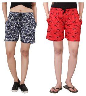 Bfly Women's Printed Shorts Combo