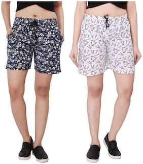Bfly Women Printed Sport shorts - Multi